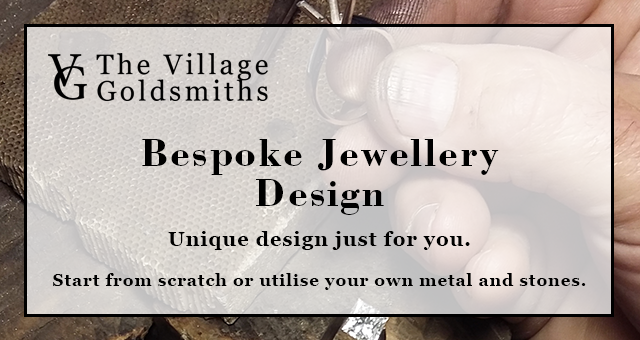 the village goldsmiths bespoke jewellery design in cheshire.